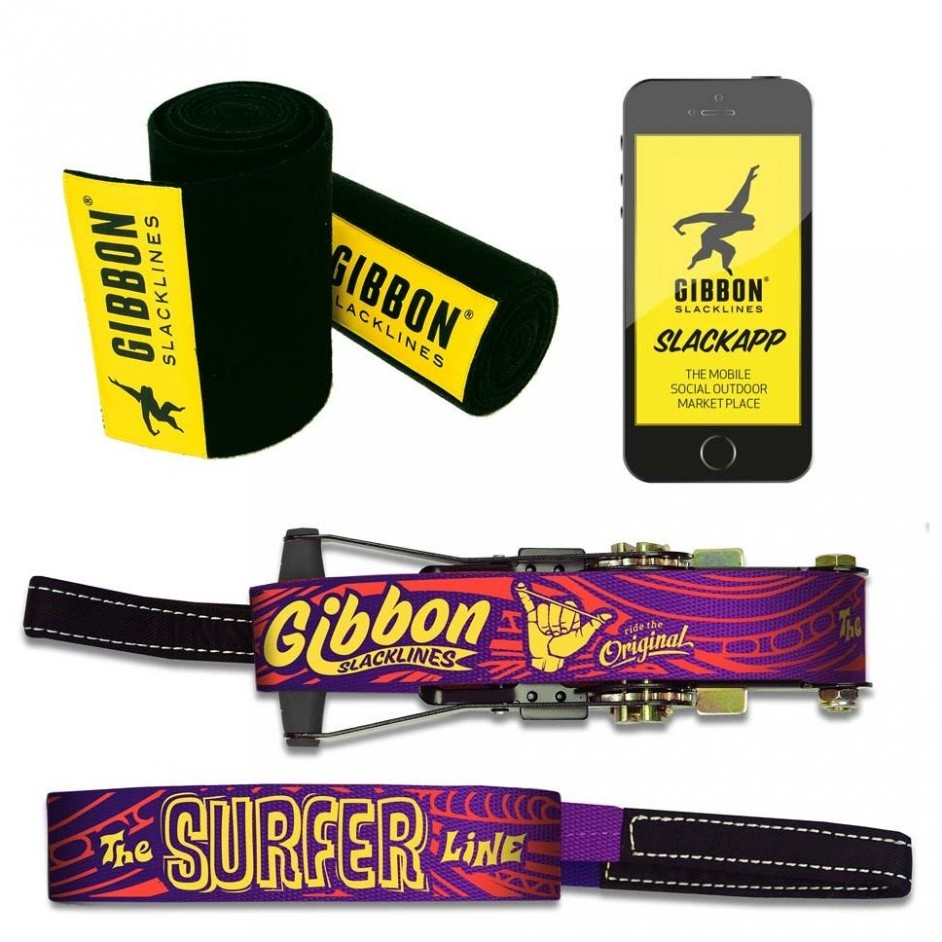 Gibbon Slacklines Surferline Treewear set